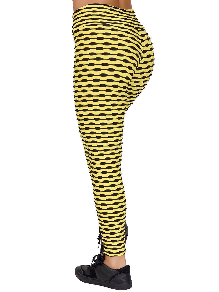Calça Tecido Bolha Multicollor Amarela