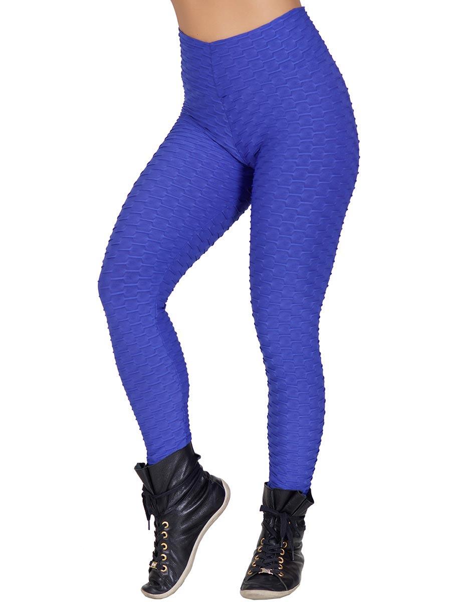 Calça Tecido Bolha Azul Escuro