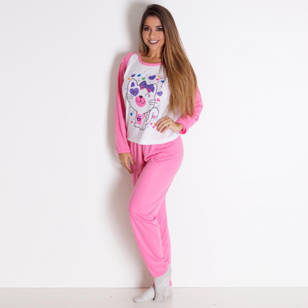 Pijama Inverno Adulto Feminino
