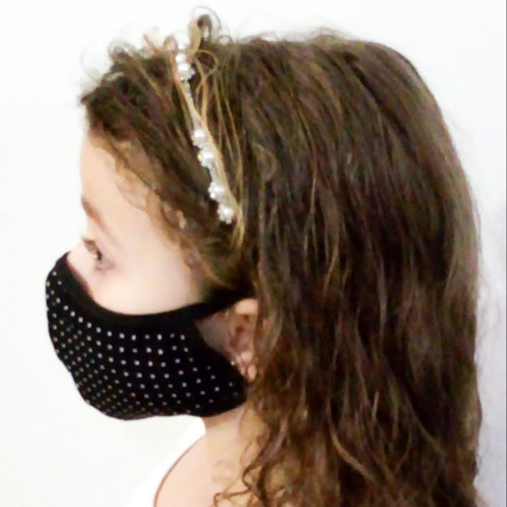Kit com 5 M�scaras Infantil Camada Dupla Liganete Estampada