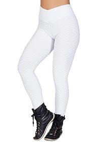 Calça Tecido Bolha Branca