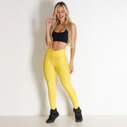 Calça Tecido Bolha Amarelo