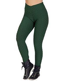 Calça Tecido Bolha Verde Musgo