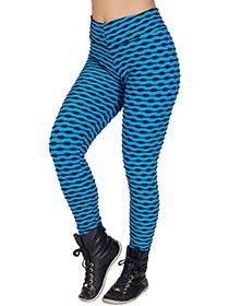 Calça Tecido Bolha Multicollor Azul
