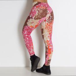 Legging Estampa Floral e Onça