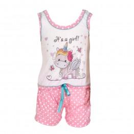 Baby Doll Regata Unicórnio Poá Infantil