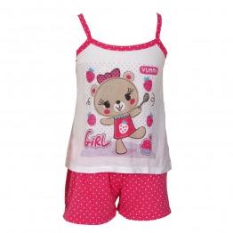 Baby Doll Alça Poá Infantil