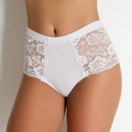 Calcinha Hot Pant Cotton e Renda