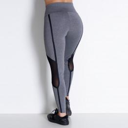 Calça Legging Fitness Detalhe Tule