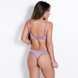 Conjunto Júlia Renda e Micro Detalhe Laço em Cetim