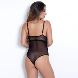 Body Sexy em Renda Francesa e Tule Clarice
