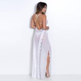 Camisola Longa Em Tule Noiva