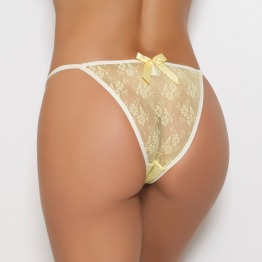 Tanga String de Renda Sem Regulagem