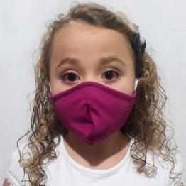 Kit com 2 M�scaras Infantil Camada Dupla El�stico Orelha