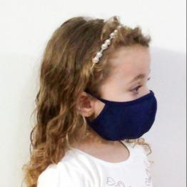 Kit com 5 M�scaras Infantil Camada Dupla Liganete lisa
