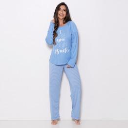Pijama de Inverno Cal�a Listrada