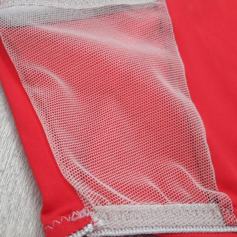 Cal�a Microfibra e Tule Vermelha